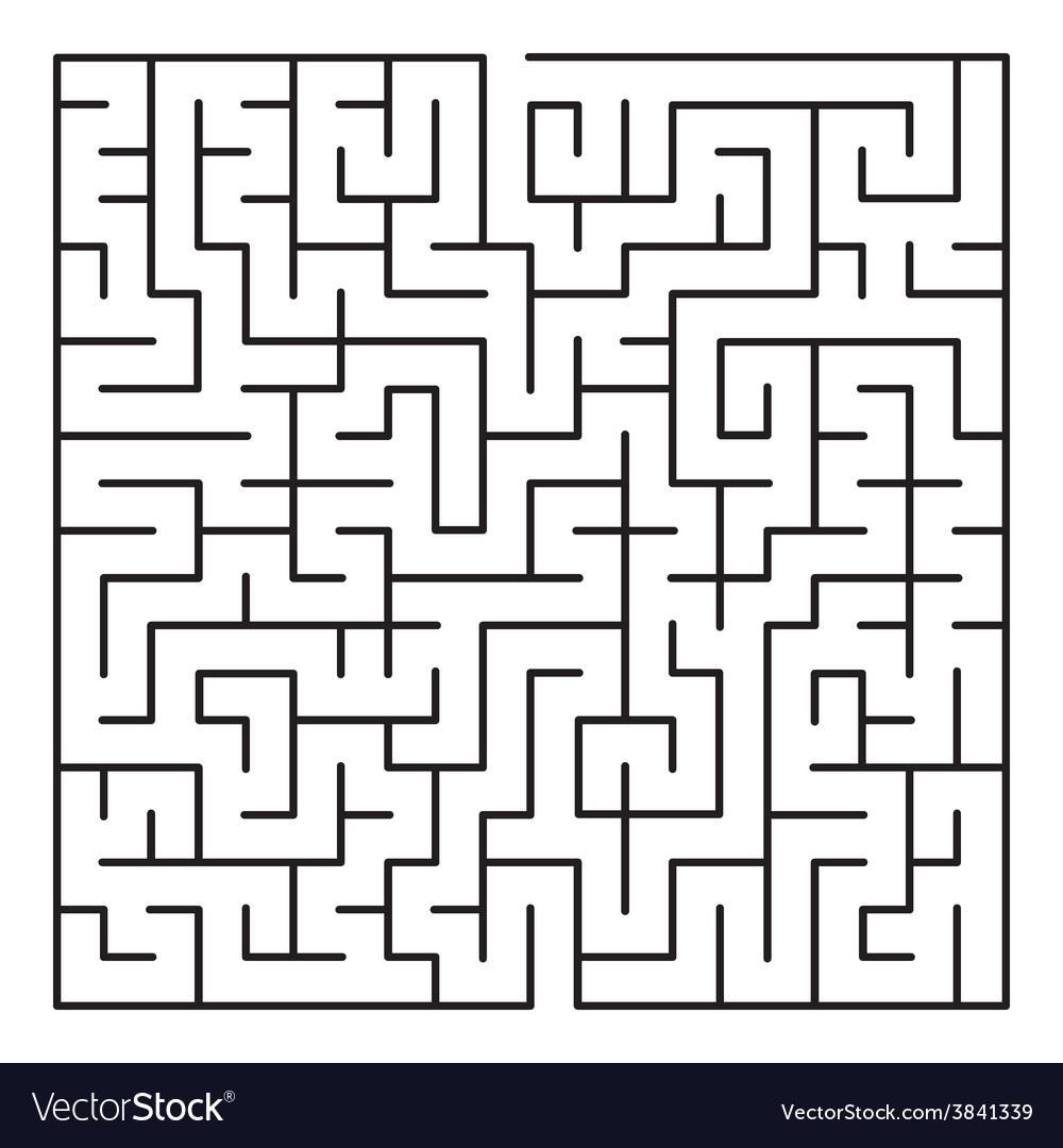 maze labyrinth royalty free vector image vectorstock