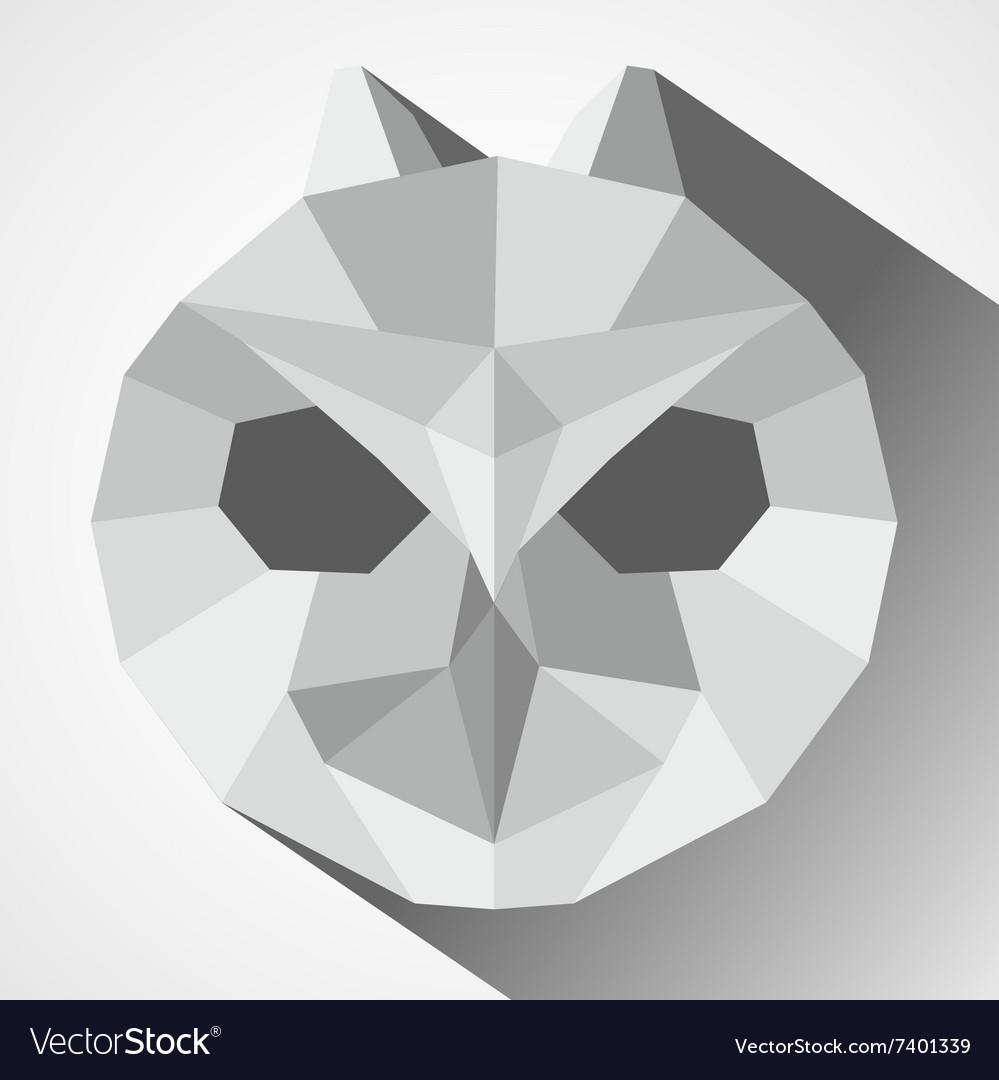 Owl head low-poly