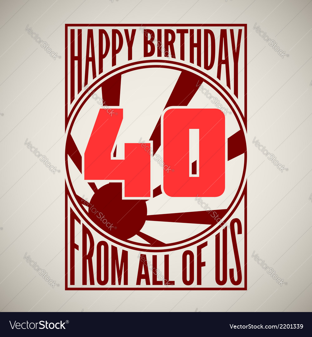 Retro poster Happy birthday