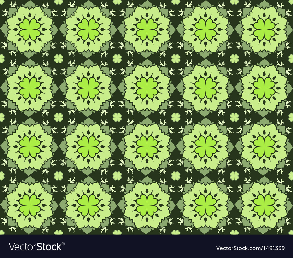 Saint patricks day floral seamless pattern vector image