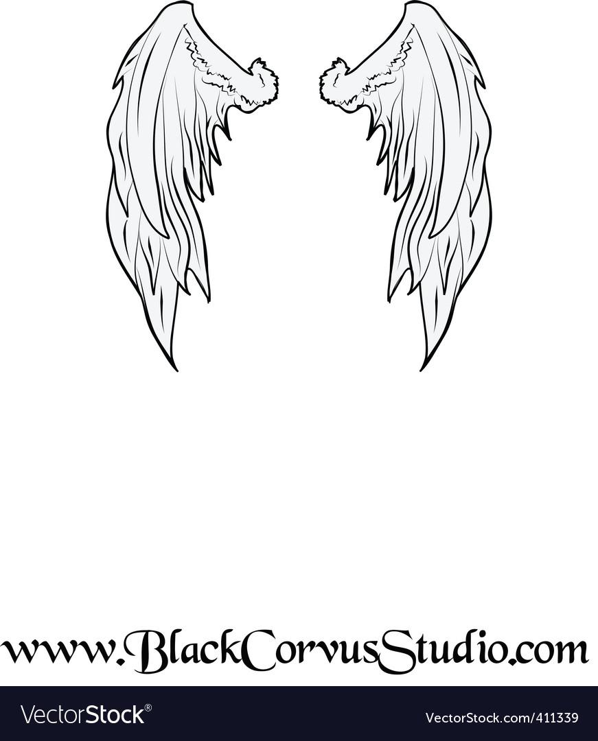 Wings0001 vector image