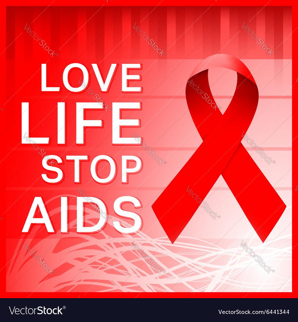 AIDS ribbon poster