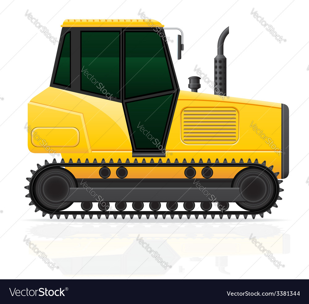 Caterpillar tractor 01 vector image