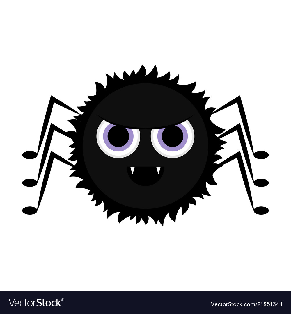 cute halloween spider cartoon character royalty free vector