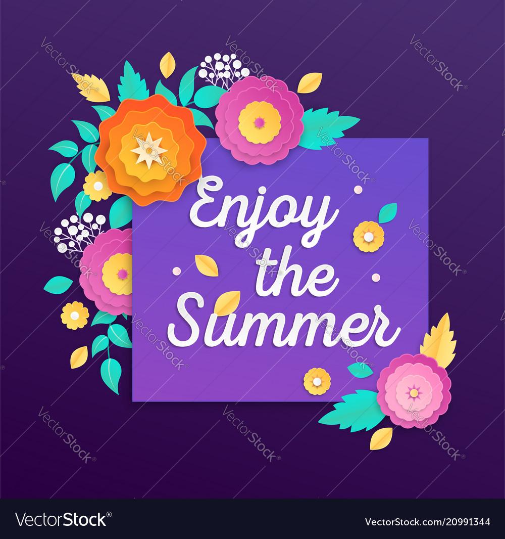 Enjoy the summer - modern colorful