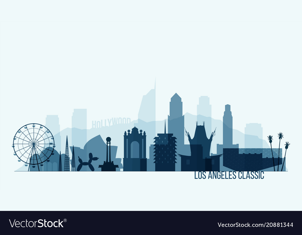 New york skyline buildings vector image