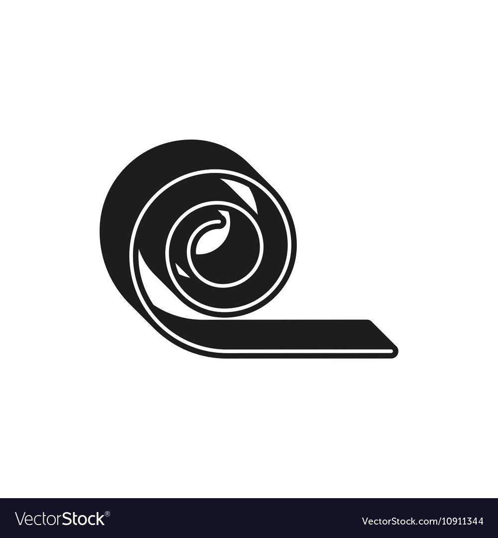 Yoga Mat simple black icon on white background