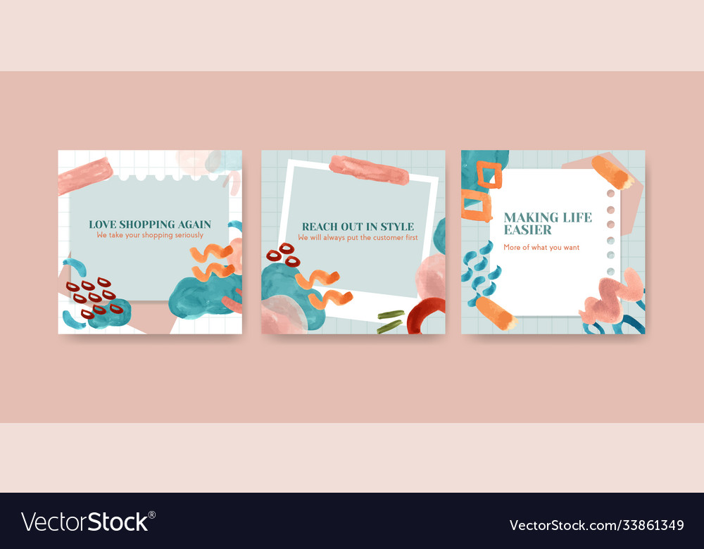 Advertise template with shopping design