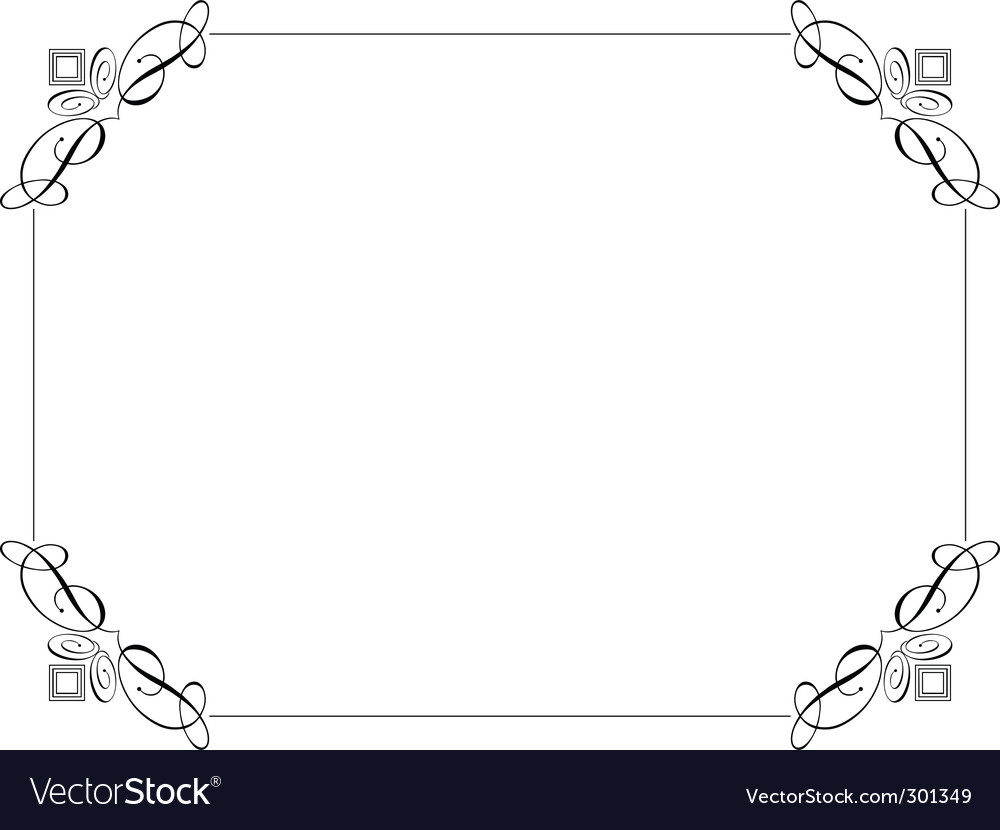 Decorative Border Royalty Free Vector Image