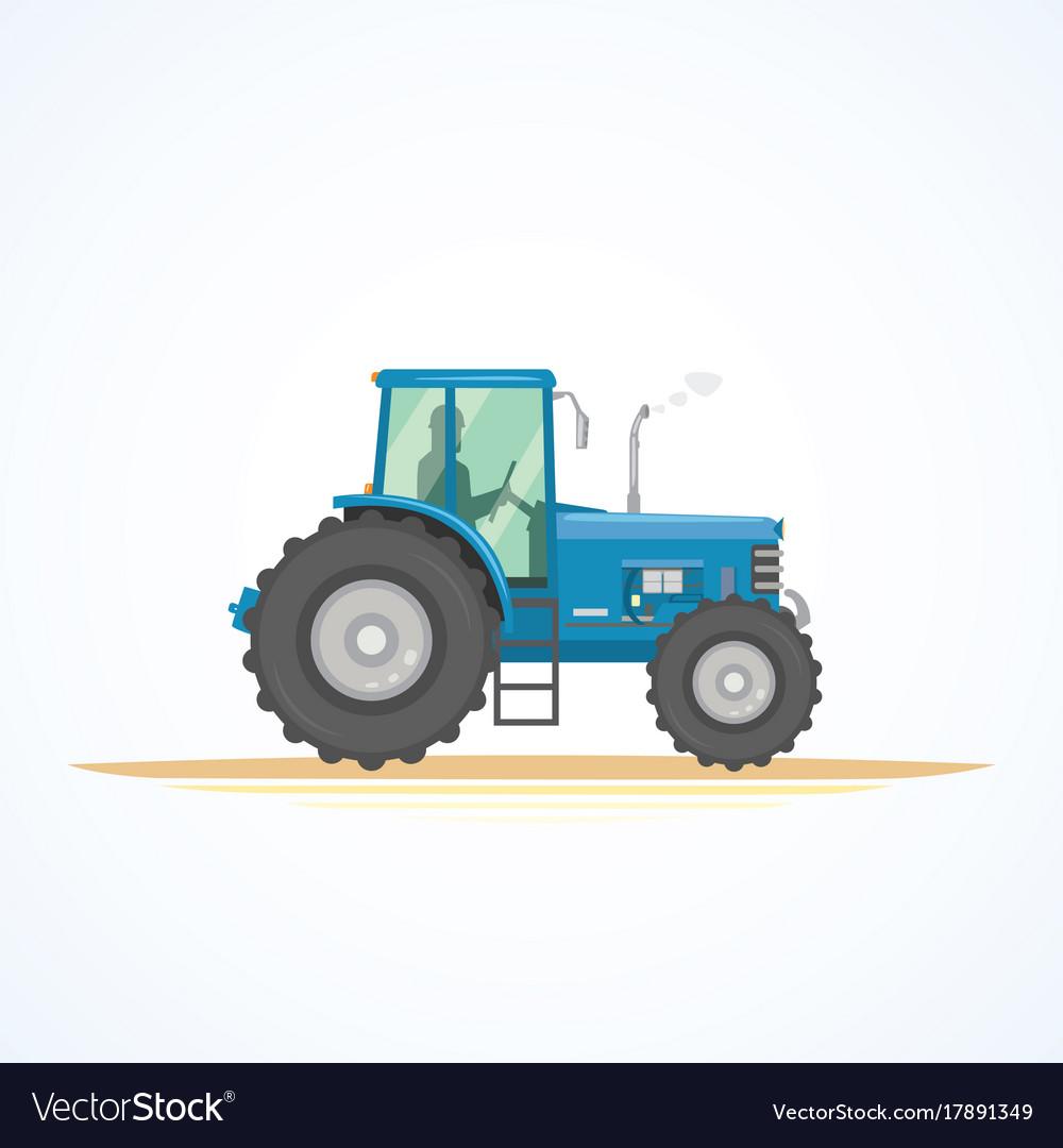 Farm tractor icon heavy