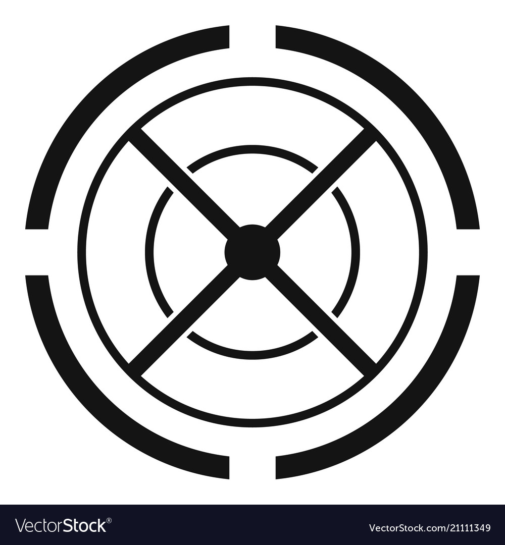 gun aim icon simple style royalty free vector image vectorstock