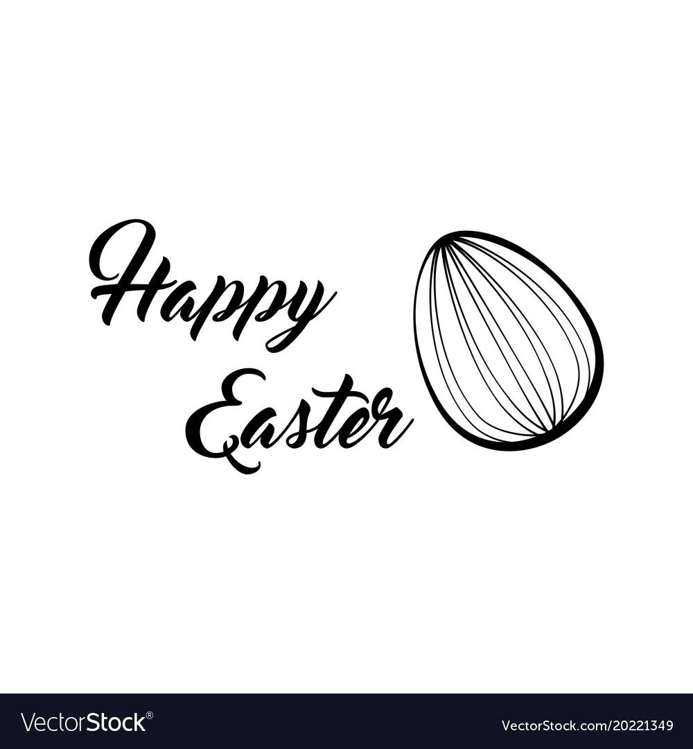 Happy easter lettering easter egg
