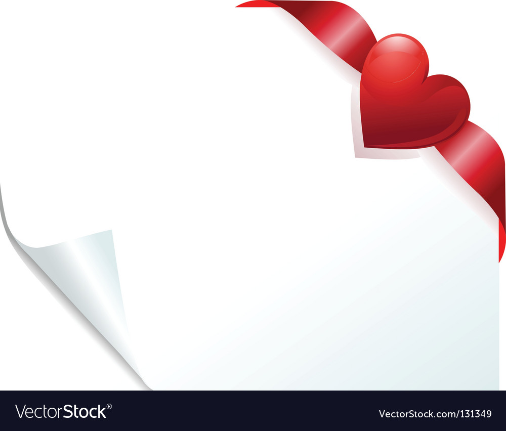 Heart page vector image