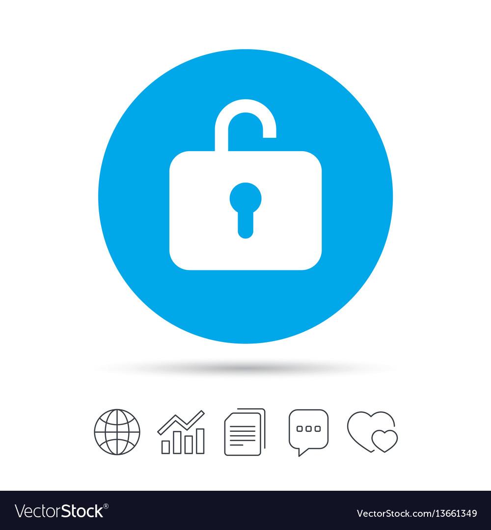 Lock sign icon login symbol