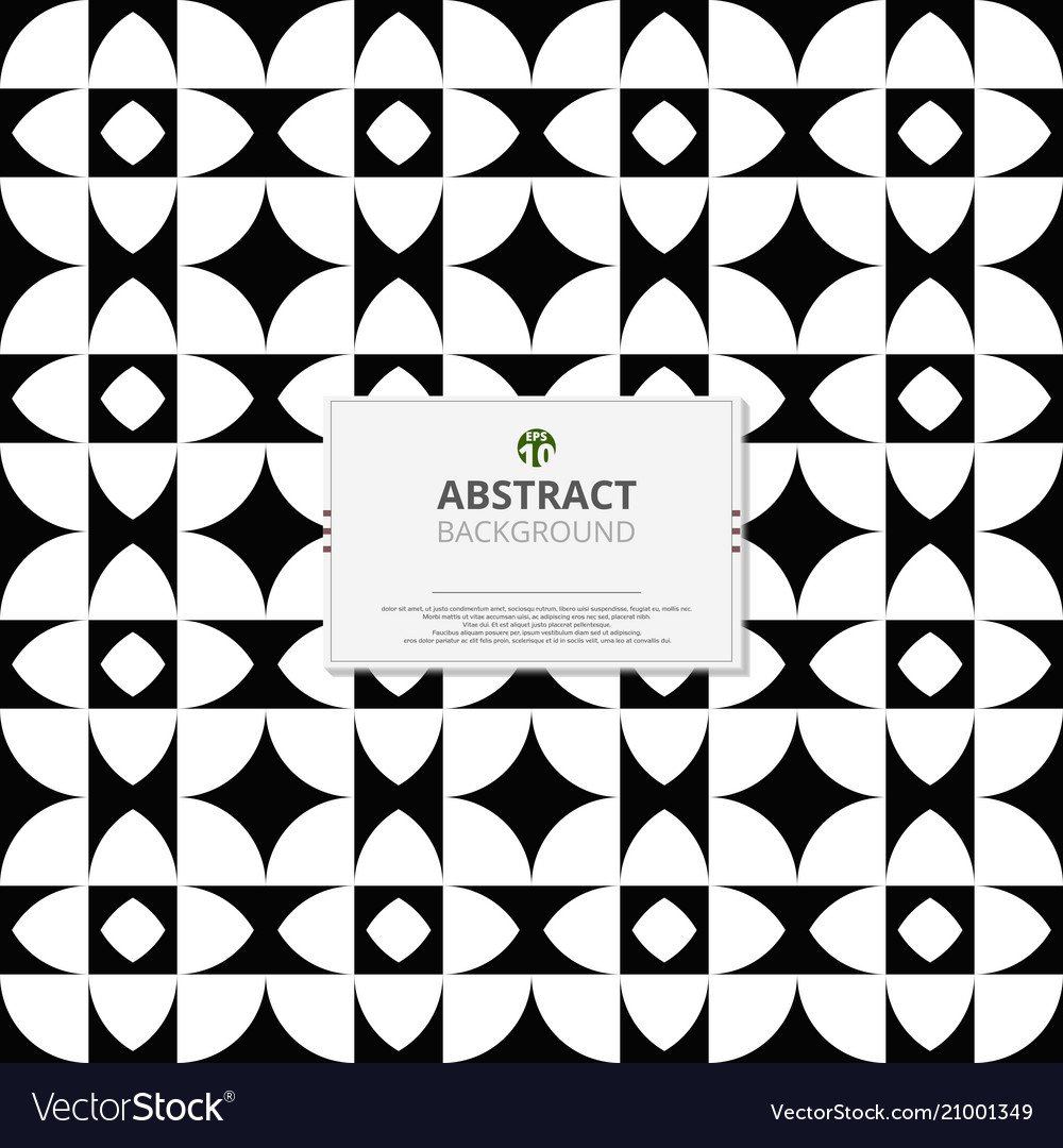 Modern of black and white pattern of geometric