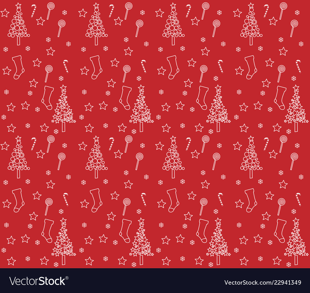 Red wrapping paper with background of christmas bo