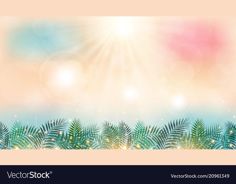 Summer season time on beach with sunshine day