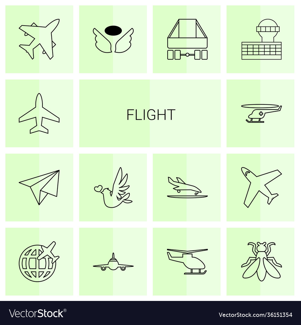 14 flight icons