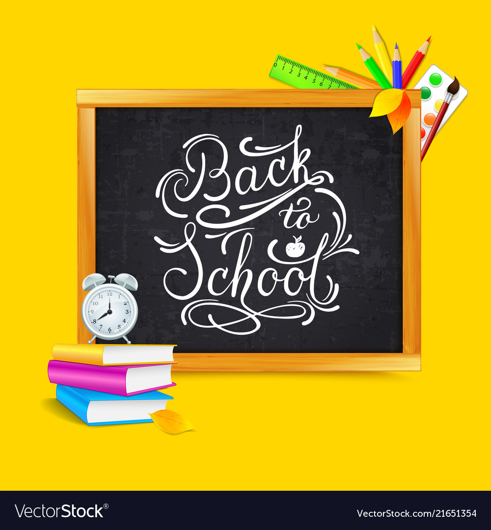 Back to school lettering text banner