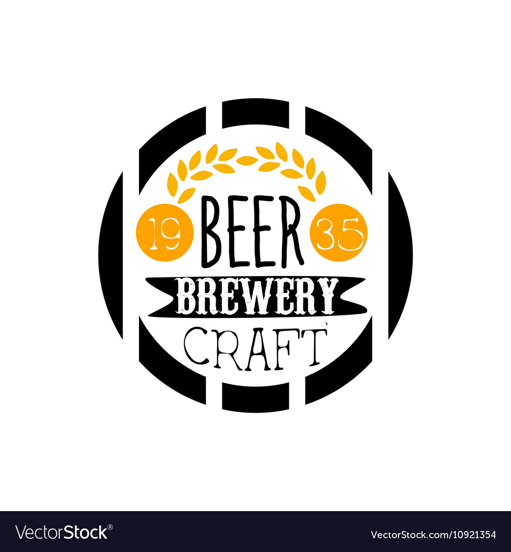 Beer Brewery Logo Design Template Royalty Free Vector Image