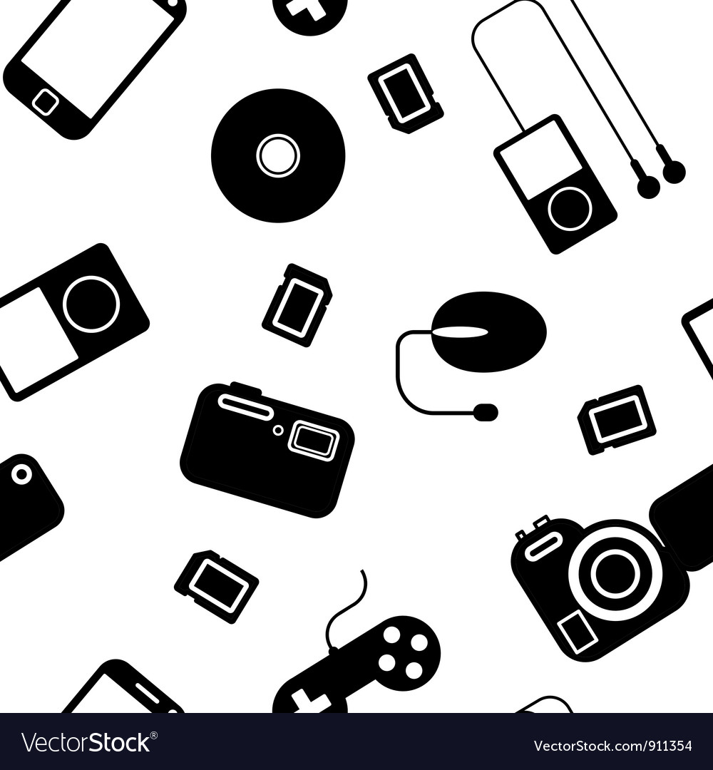 Electronic Gadgets Seamless Pattern Royalty Free Vector
