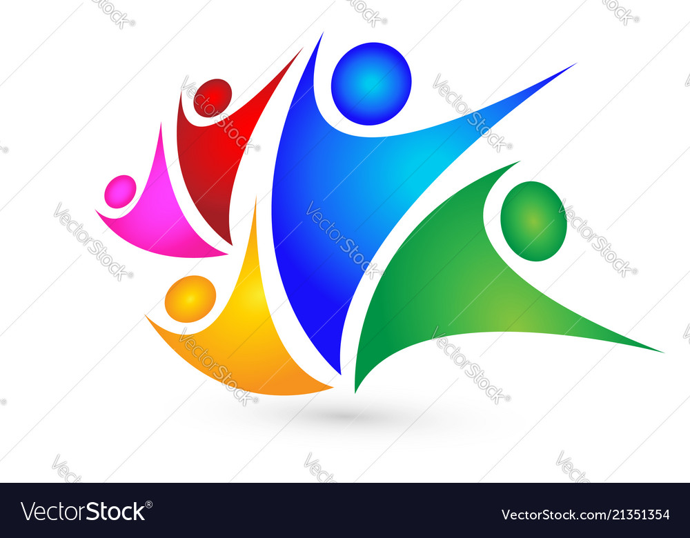 Family Group People Team Logo Royalty Free Vector Image