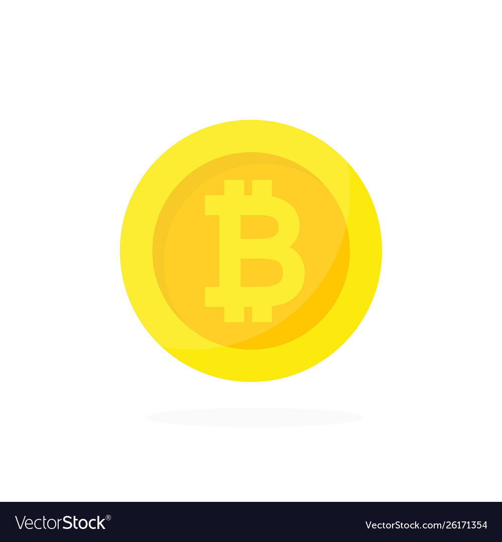 Golden bitcoin icon cryptocurrency digital money