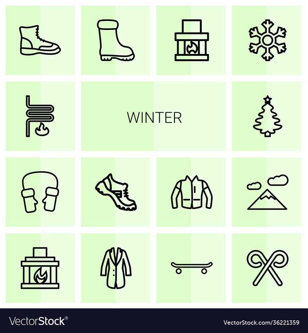 14 winter icons