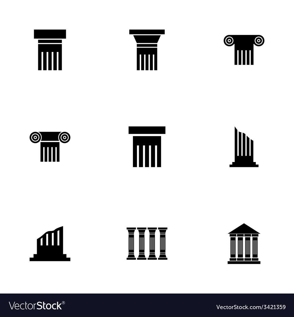 Black column icon set