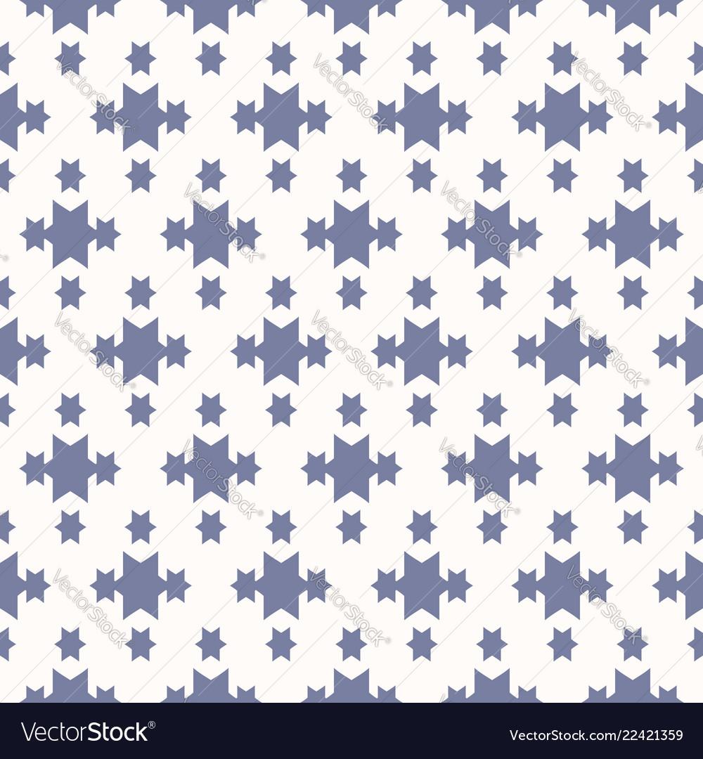 Blue and white geometric seamless pattern