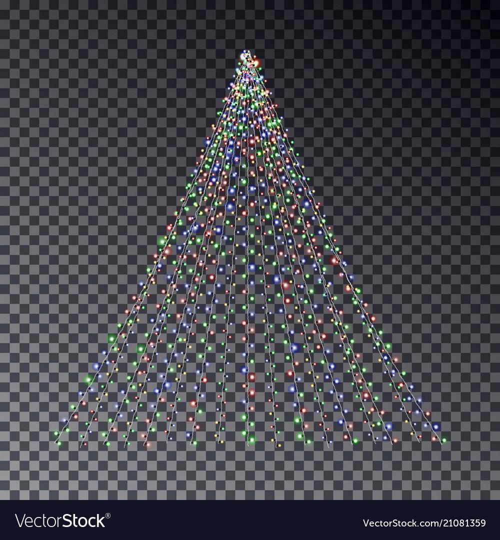 Christmas light tree string light effect christm