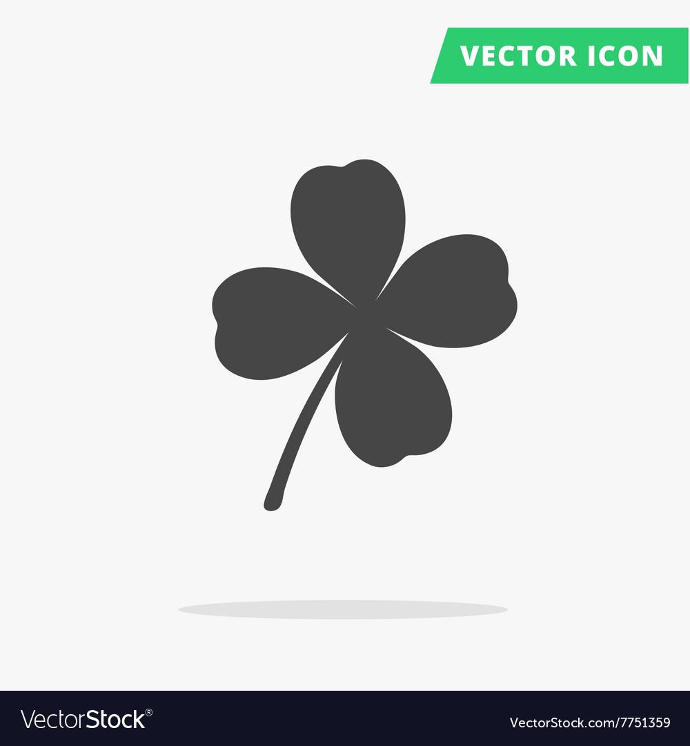 Clover silhouette sign good luck