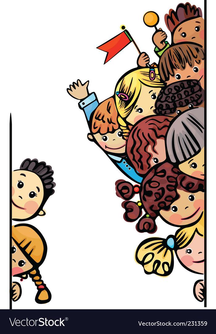 Kids different races vector image