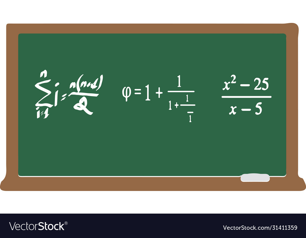 Mathematical equation isolated on blackboar