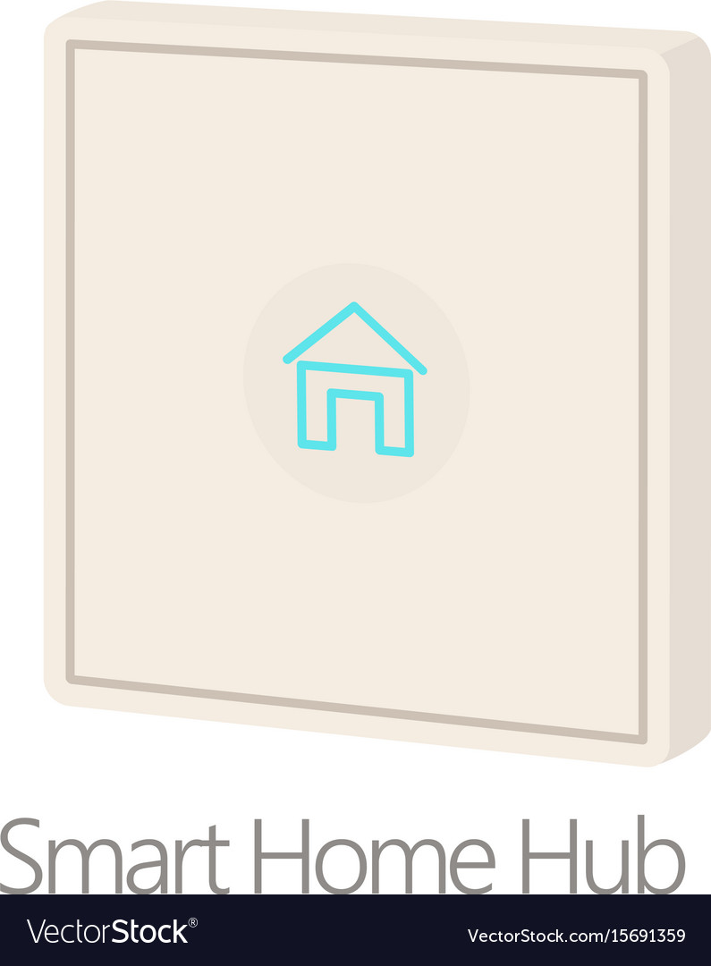 Smart home hub icon cartoon style vector image
