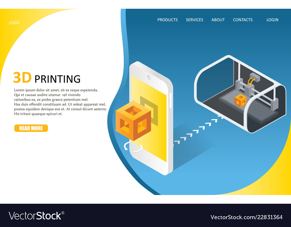 3d printing process landing page website