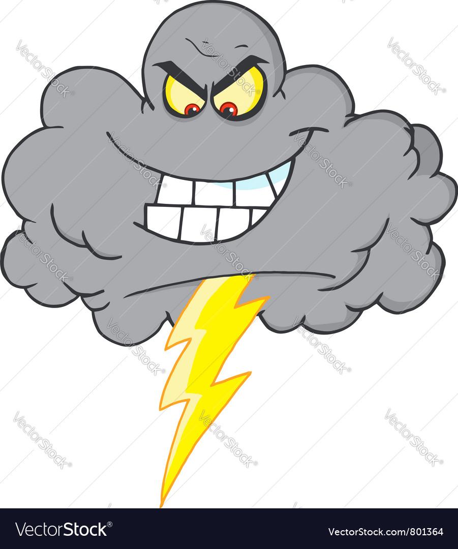 Evil Lightning Storm Cloud Vector Image