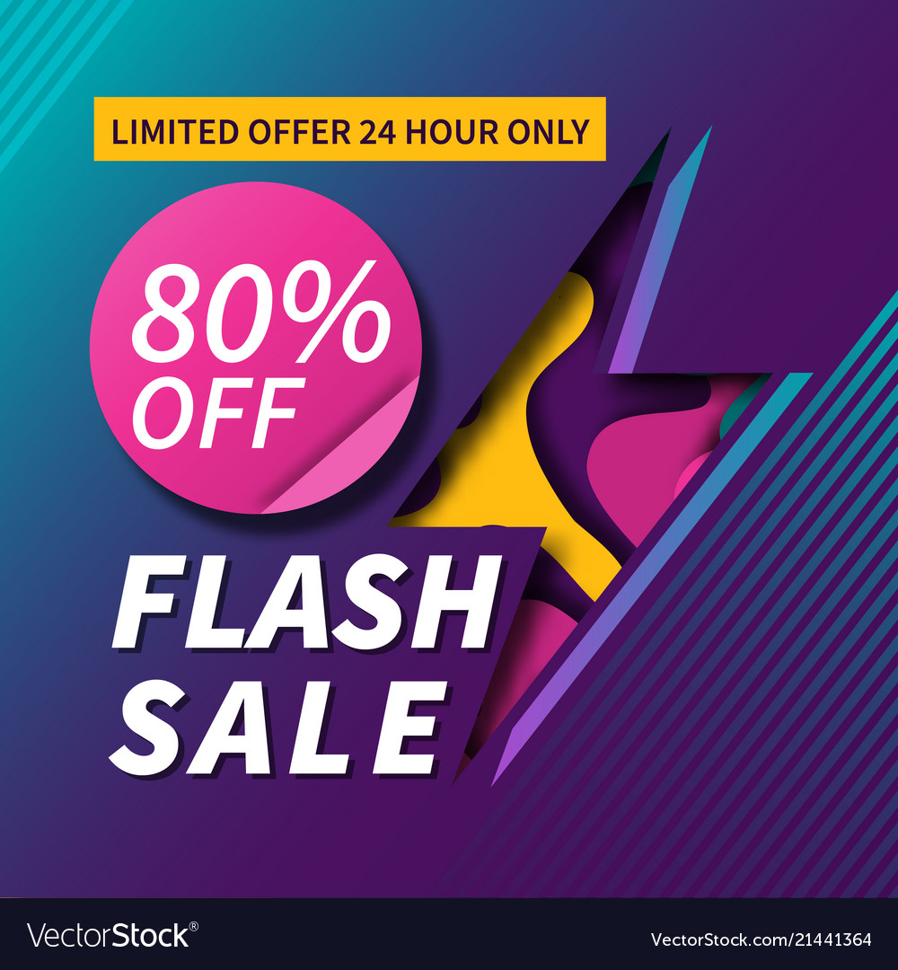 Flash sale paper cut banner design