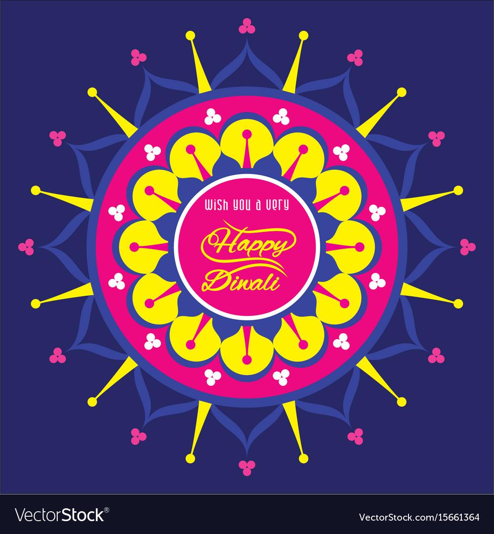 Happy Diwali Greeting Design Royalty Free Vector Image