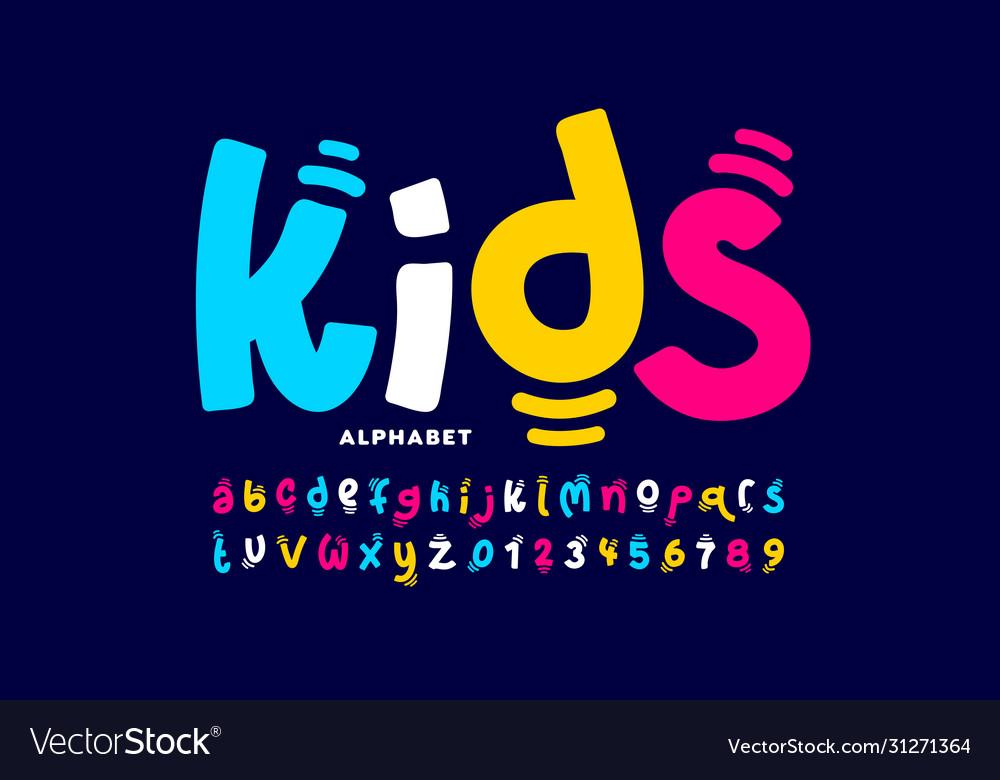 Kids style playful font