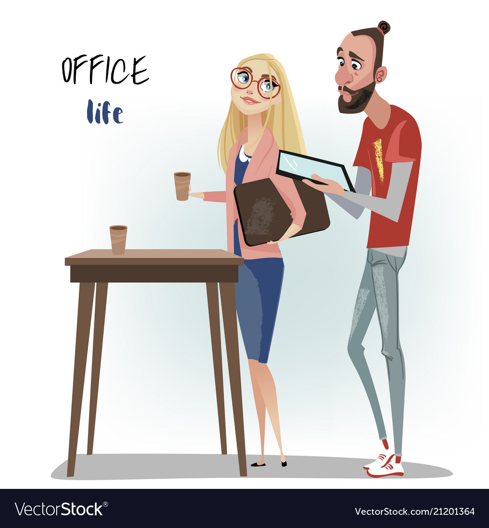 Office people man and woman