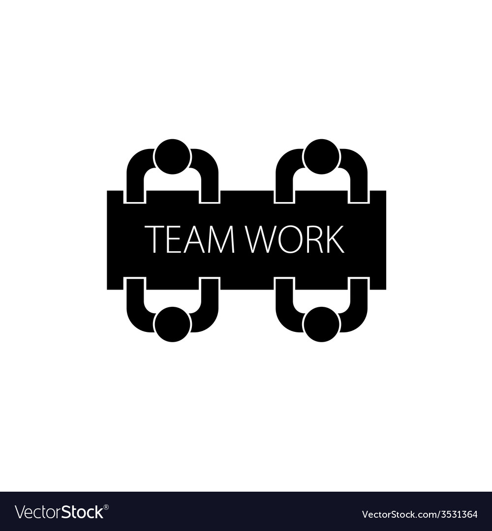 Team work with people icon