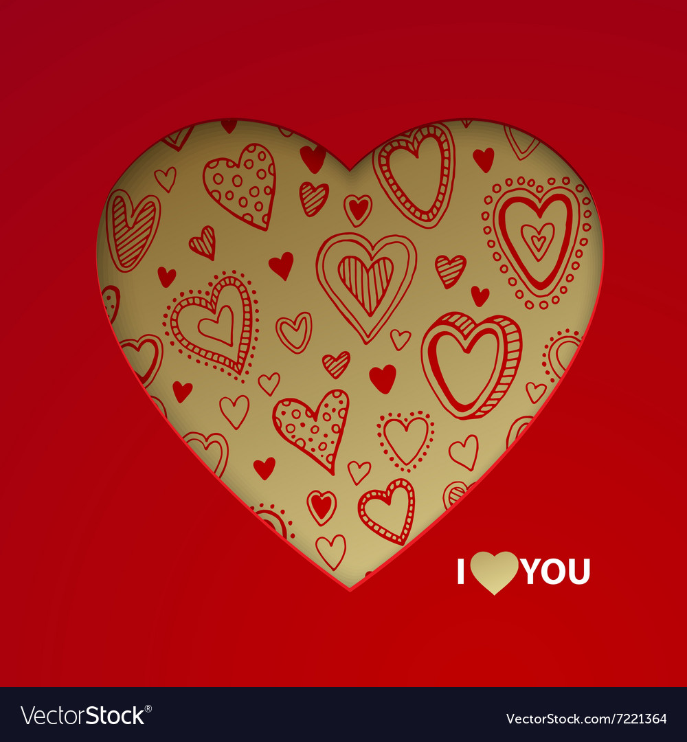 Valentine day postcard concept
