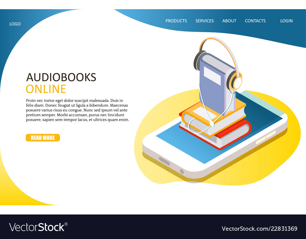 Audiobooks online landing page website