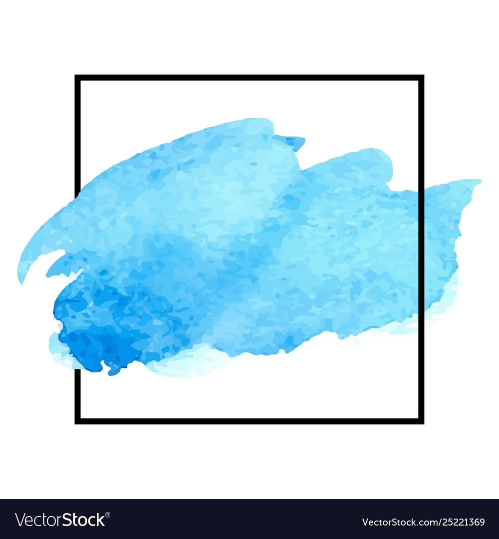 Beautiful blue watercolor