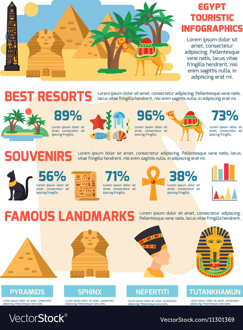 Egypt Infographic Set vector image