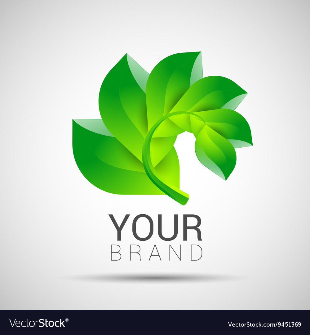 Environmental leaves branch logo eco