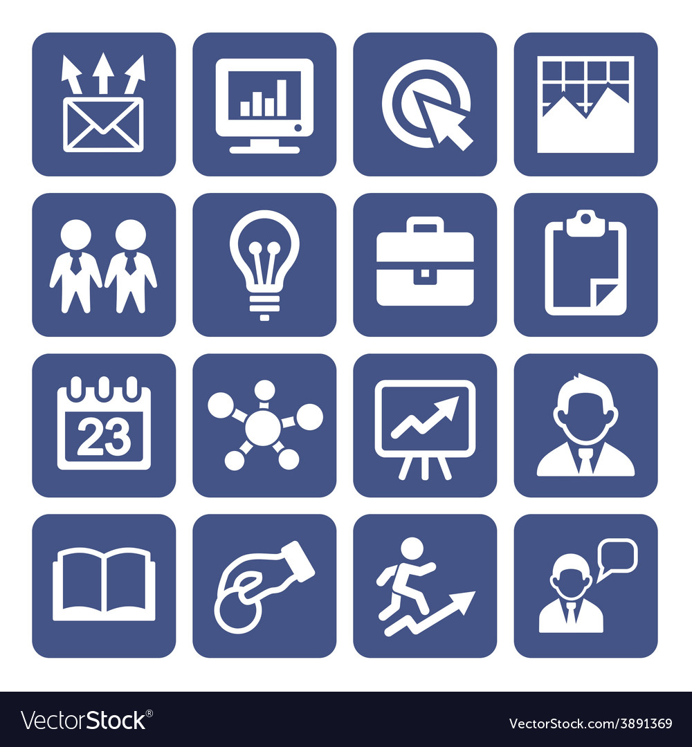 Marketing Icons Set vector image