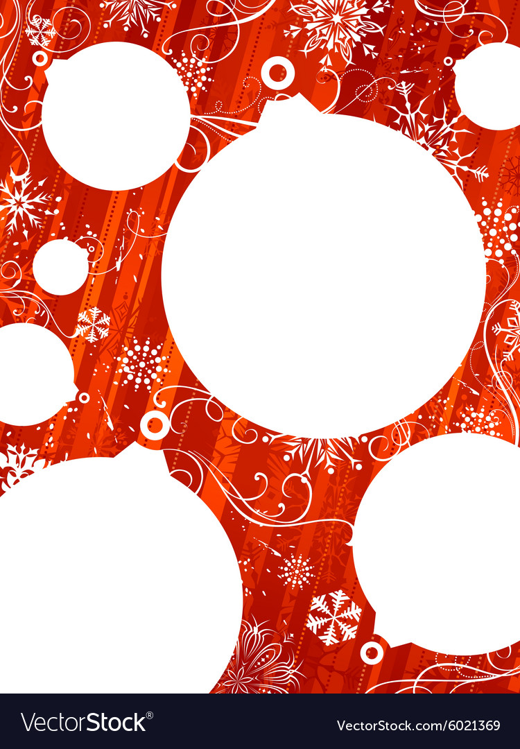 Red Christmas background with white places for