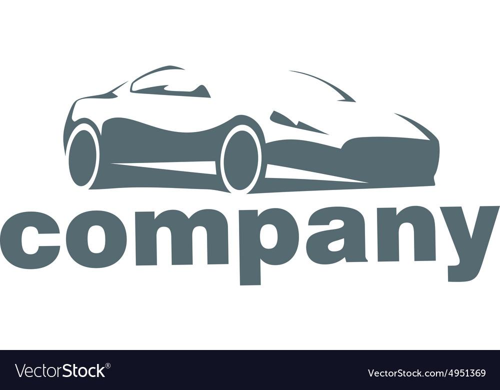 silhouette car logo royalty free vector image vectorstock